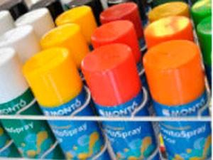 Envasado de pintura en spray